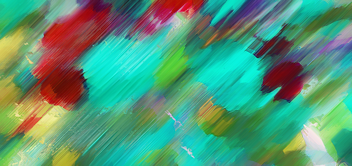 Teal and Red Abstract