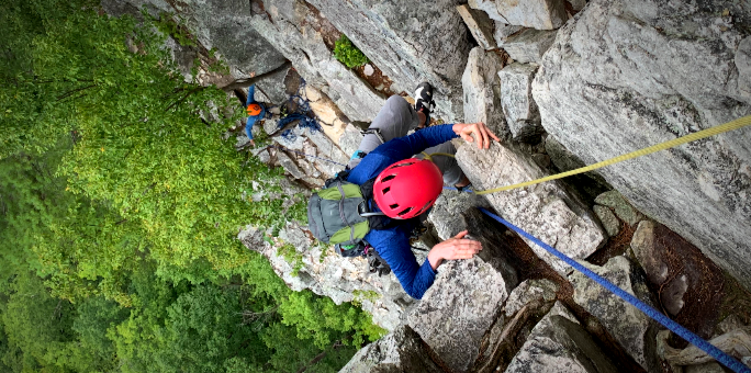 Climbing at Seneca Rocks, WV
