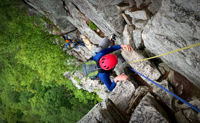 Climbing at Seneca Rocks, WV